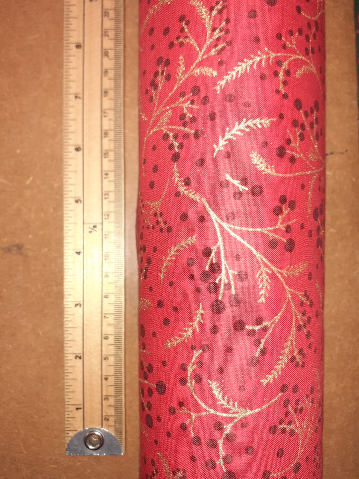 Berry red Christmas fabric