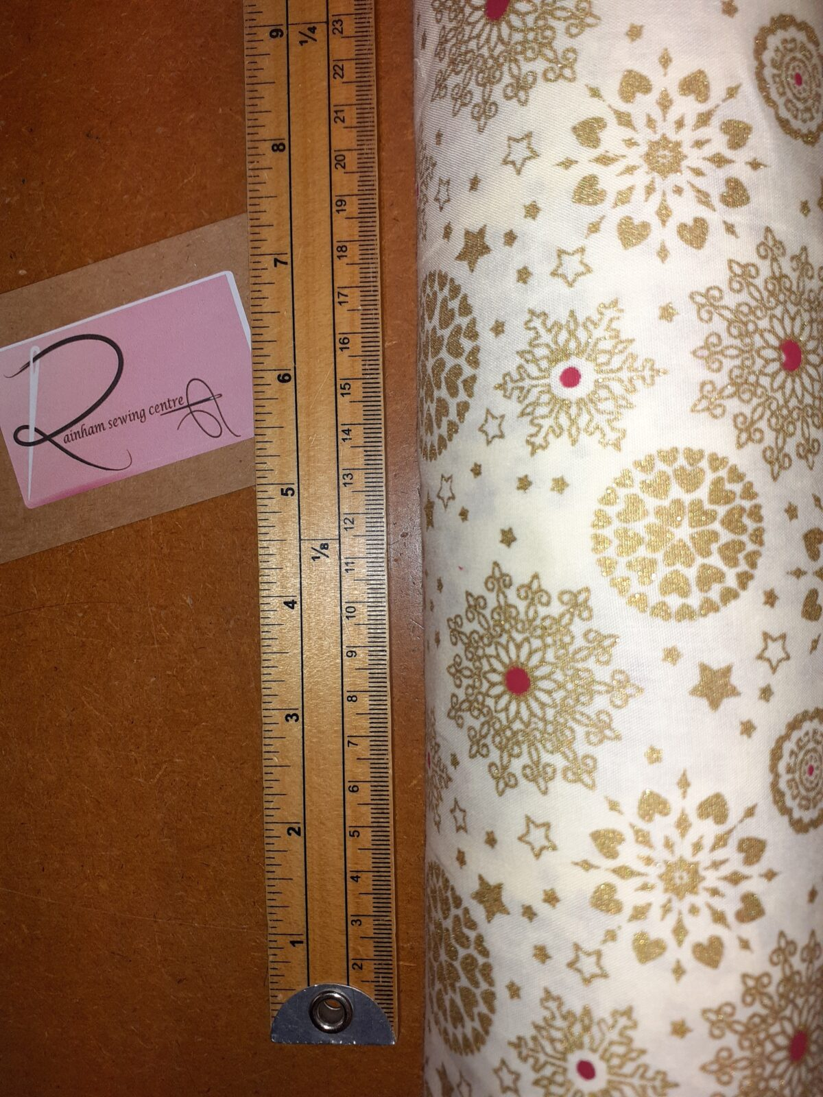 Ivory Christmas Snowflake Fabric