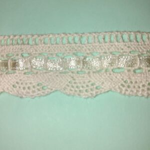Lace Cotton with satin Ribbon