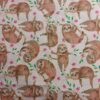 100% Cotton Sloth Fabric
