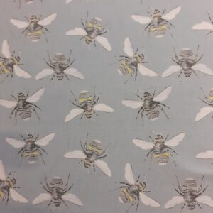 100% Cotton grey Bees