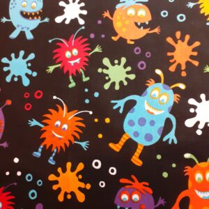 100% Cotton colourful monsters