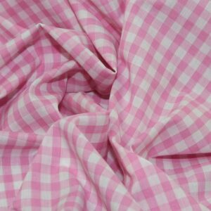 Polycotton Gingham 1/4 Pale Pink