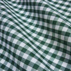 Polycotton Gingham 1/4 Bottle Green