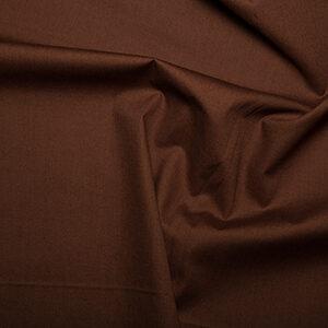 Cotton Poplin Plain Brown
