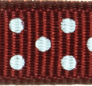 Grosgrain with Spots 13mm: Chocolate