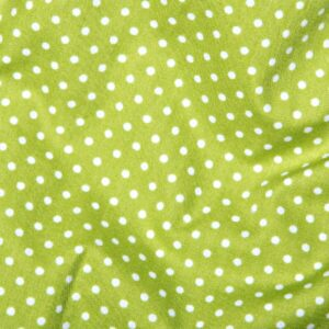 100%Cotton Polka Dots Lime