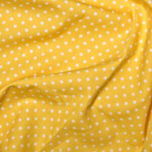 100%Cotton Polka Dots Lemon
