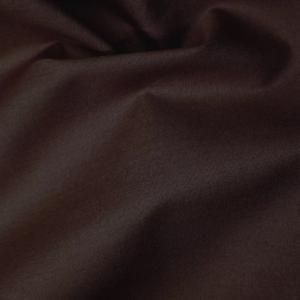 Cotton Poplin Plain Dark Brown