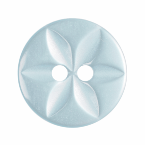 Polyester star blue Button