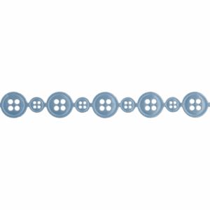 Satin Linked Button trim