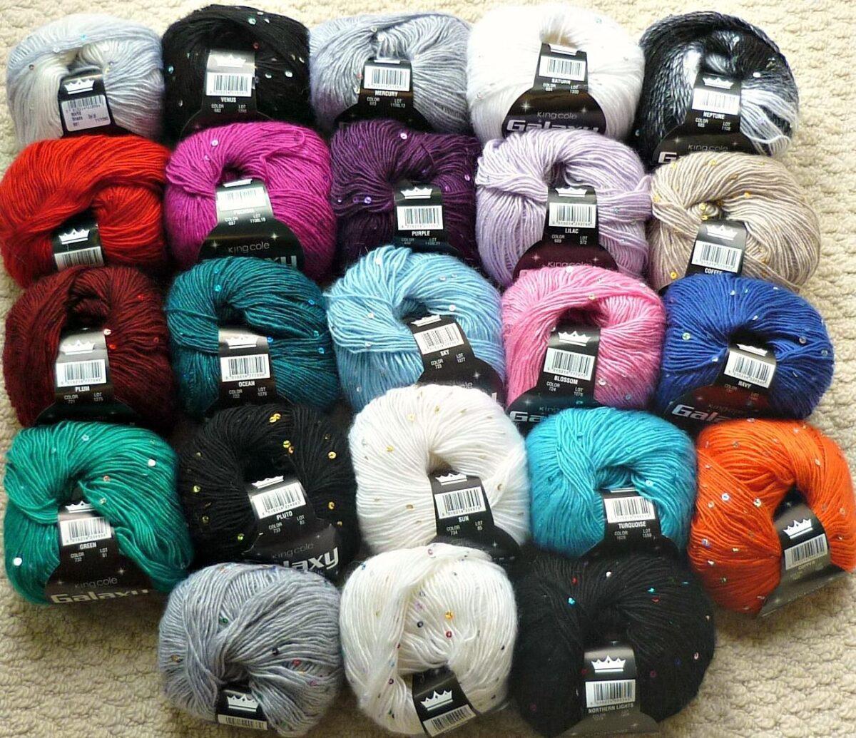 Kingcole Galaxy sequin wool