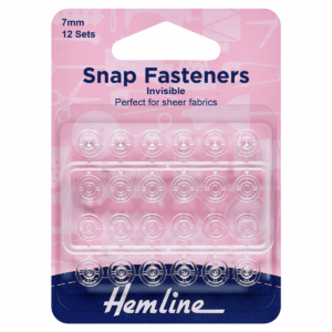 12 Clear snap fastening