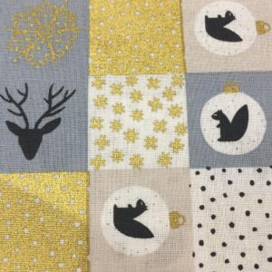 Christmas fabric patchwork design