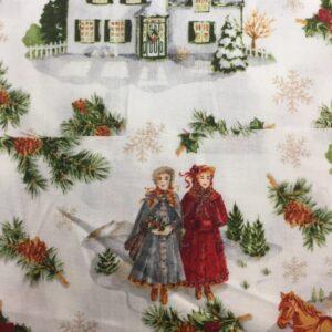 Christmas old fashion scene