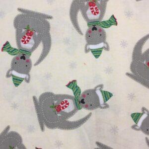 Christmas with festive kangaroos