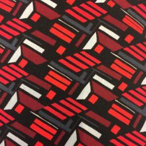 Red/black/grey Viscose/Lycra