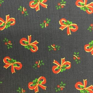 Christmas Fabric with bows