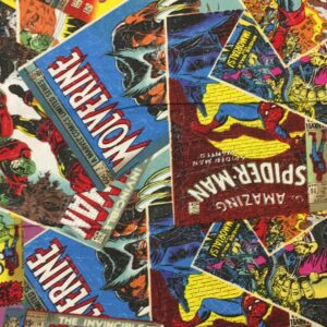100% Cotton Marvel Comic Book