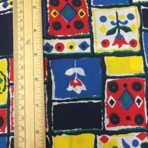 Bold patchwork 100% cotton