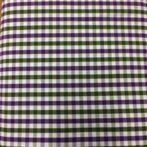 Purple and Green Gingham