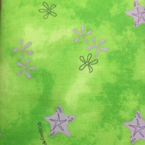 100% Cotton Green starfish