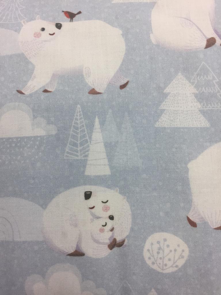 Christmas Polar Bears fabric