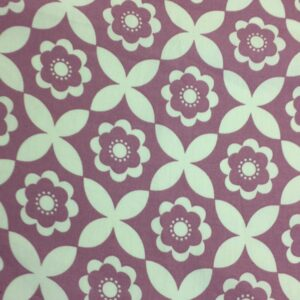 100% Cotton Lilac Flower