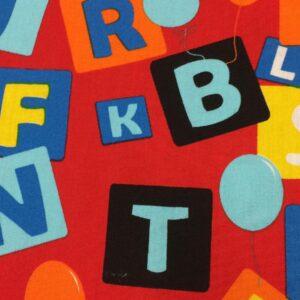 100% Cotton Colourful letter R