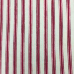 100% Cotton Cream/red stripe