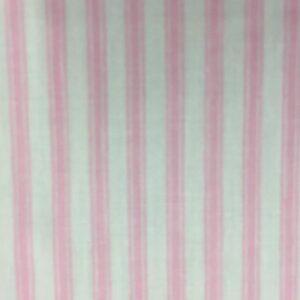 100% Cotton Cream/pink Stripe