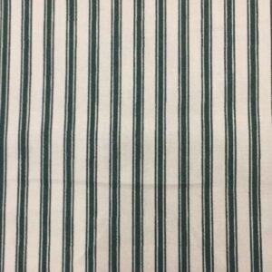 100% Cotton Cream/Green stripe
