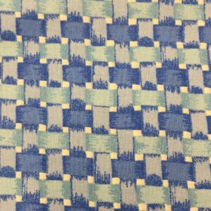Blue basket weave check