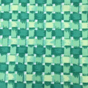 Green basket weave check