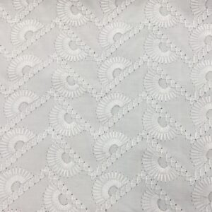 Embroidered Anglaise zigzag sun
