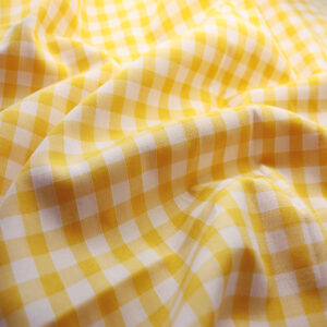 Polycotton Gingham 1/4 Yellow