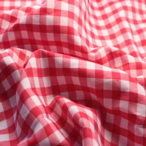 Polycotton Gingham 1/4 Red