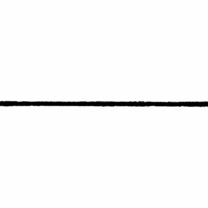 Black Fuzzy 2mm Elastic
