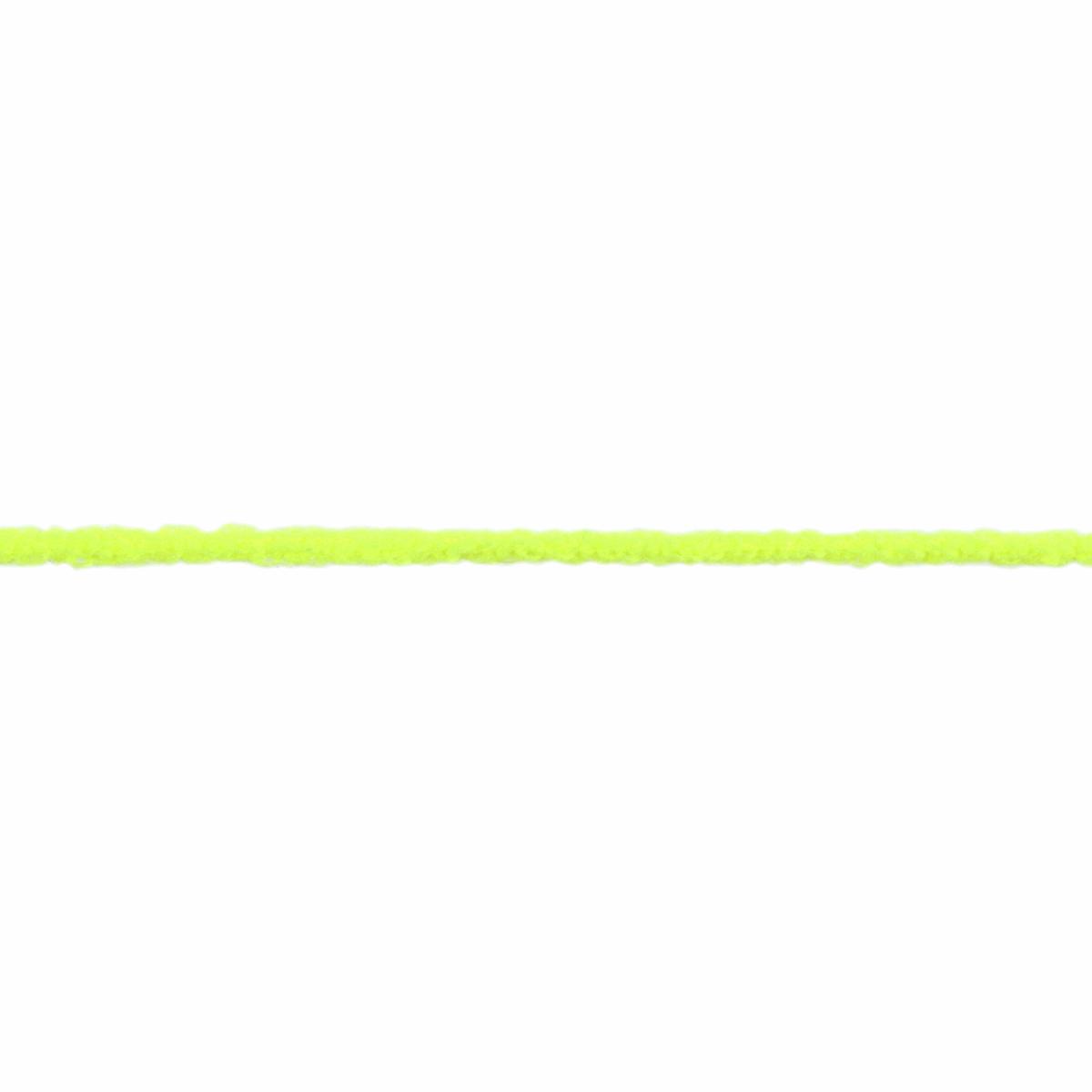 Fluorescent Yellow Fuzzy 2mm Elastic