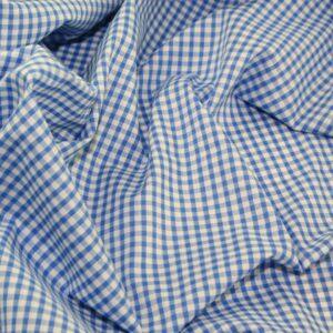 Polycotton Gingham 1/8 pale blue