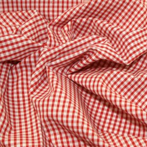 Polycotton Gingham 1/8 Red