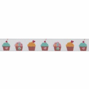 Ribbon: Grosgrain: Cupcakes 10mm