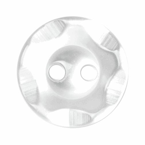 Polyester flower white Button