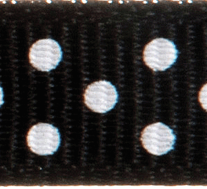 Grosgrain with Spots: 13mm: Black
