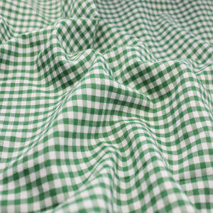 Polycotton Gingham 1/8 Emerald